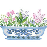 Small Spring Bulbs in Porcelain Bowl