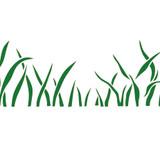 Medium Grass Wall Stencil
