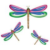 Dragonflies Wall Stencil