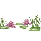 Waterlilies Wall Stencil