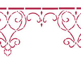 Wrought Iron Wall Stencil Border