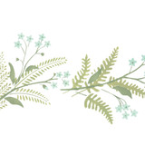 Fern and Flower Wall Stencil Border