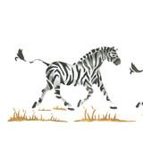 Running Zebras Wall Stencil Border