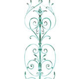 Door Panel Scroll Wall Stencil