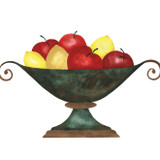 Fruit Bowl Wall Stencil