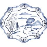 Oriental Platter Wall Stencil