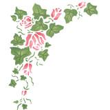 Mini Corner Rose Ivy Wall Stencil