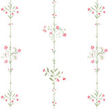 Floral Stripe Wall Stencil Close up