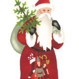 Small Father Christmas Wall Stencil