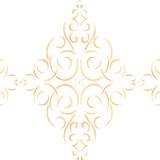 Simple Diamond Medallion Wall Stencil