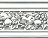 Carved Fruit Molding Wall Stencil