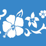 Small Hibiscus Flower Wall Stencil
