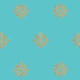 Gold Medallion Wallpaper SKU #3530