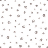 Dog Paw Pattern Wallpaper Stencil