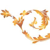 Acanthus Leaf Swirl Border Wall Stencil