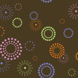 Spiral Pop Circle Wall Stencil