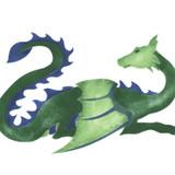 Dragon Wall Stencil