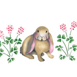 Bunnies with Clover Wall Stencil