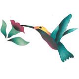 Hummingbird Wall Stencil