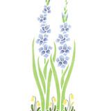 Tall Gladiolus Flower Wall Stencil