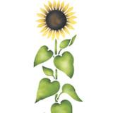 Medium Sunflower Wall Stencil