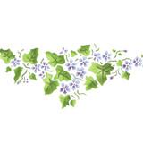 Small Violet Ivy Border Wall Stencil