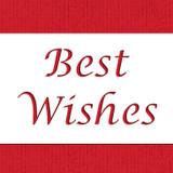 Best Wishes Cake Stencil