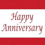Happy Anniversary Cake Stencil