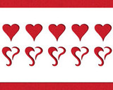Curly Hearts 3-D Stencil Template