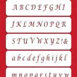 Alphabet Cake Stencil