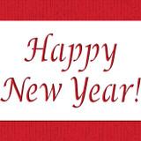 Happy New Year Cake Stencil