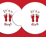 Small It's a Boy/Girl Candy/Cookie Top 1.5""