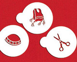 "Three Upsherin Symbols 2"" Cookie Stencil"