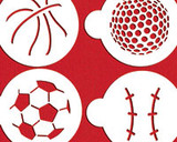 Large Sports Ball Cookie Stencils
