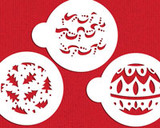 Christmas Balls Cookie Stencils