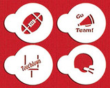 Small Football Candy Stencils