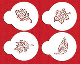 Fall Leaves Cupcake Stencil