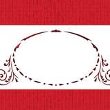 Monogram Oval Crest Cake Stencil