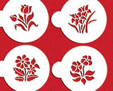Small Botanical Flowers Cookie Stencils