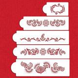 Mehndi Cake 5 Tier Cake Stencil Set