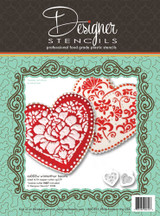 Winterthur Heart Cookie Stencil Set (no cutter)