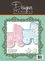 Baby Carriage Cookie Stencil Set (no cutter)