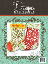 Christmas Stocking Cookie Stencil Set (no cutter)