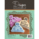 Winter Cap Cookie Cutter & Stencil Set