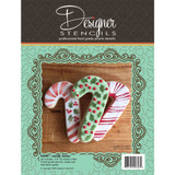Candy Cane Cookie Cutter and Stencil Set