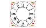 "Winterthur  22"" Multilayer Cross Hall Clock Face Wall Stencil"