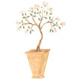 Winterthur Chinese Parlor Magnolia Tree Wall Stencil