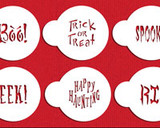 Small Halloween Cupcake Stencil Sayings