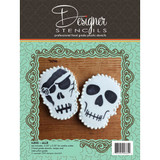 Halloween Skull Stencil and Cookie Cutter Set