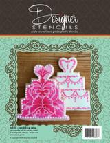 Wedding Cake Cookie Cutter and Stencil Set